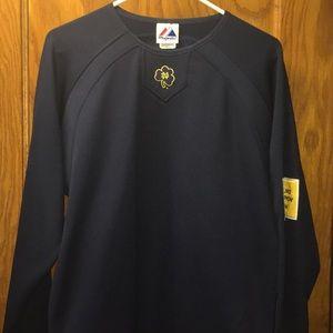 Majestic Men's Notre Dame Blue Long Sleeve Shirt